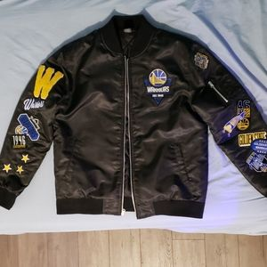 Golden state warriors bomber jacket